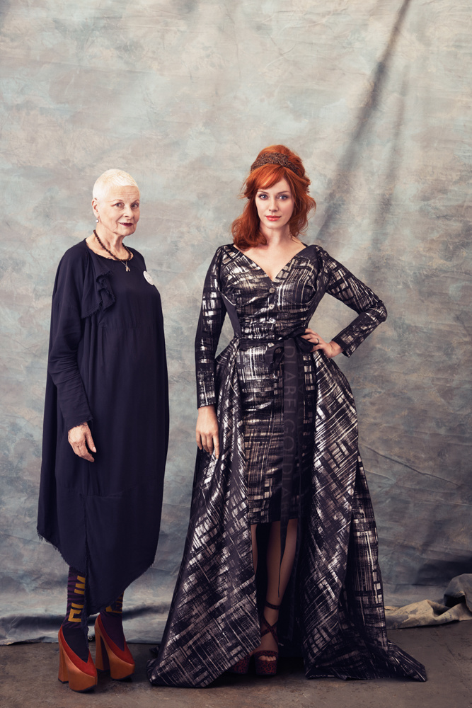 Vivienne Westwood and Christina Hendricks for the Hollywood Reporter by Rebecca Miller